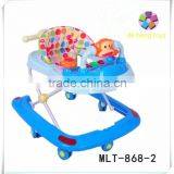 Convenient folding cheap baby walker for toddlers plastic baby doll walker big baby walker with 8 swivel wheels