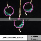 Pendant Necklace Factory Wholesale 316I Stainless Steel Fashion Luxury Circle Dubai Gold Jewelry Set for Wedding Jewelry