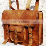 genuine leather vintage style back pack/ruck sack bags/real leather back pack