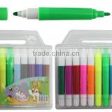 color barrel white cap double head water color pen 12PK set