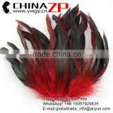 ZPDECOR Wholesale Best Selling Beautiful Dyed Red Chicken Half Bronze Rooster Schlappen Feathers