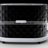 2 slice pop up toaster with diamond shape design/ bun toaster/ bread toaster machine
