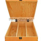 2015 year china suppliers selling FSC&SA8000 locked lid Fashion High Quality wooden wine bottles box in made China