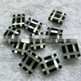 Mother of pearl shell & black onyx mosaic for cuff links