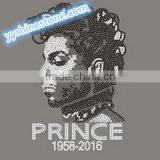 New design! Shinning Prince hot fix heat transfer rhinestones motif