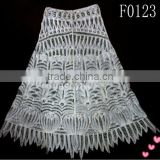 handwork crochet cotton lace embroidery designs ladies skirts