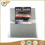 Non-stick bbq grill mat set of 2 PTFE teflon fiberglass fabric bbq mesh mat with high quality