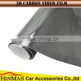 Black 5D Carbon Fiber Vinyl Car Sticker/ High Glossy 5D carbon fiber wrap/ Glossy 5D carbon