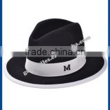 hot new products for 2014 Fall and winter simple black 100% wool Fedora ladies hats felt cat ear hat wholesale for men