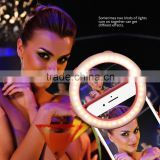 Selfie Portable Flash LED Camera Phone Photography Ring Light Selfie Ring Light for sale