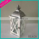 Hanging spring style wooden pillar candle lantern for holiday decor