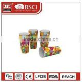 The hot sale food grade 5.5 oz / 160 ml disposable plastic clear chocolate cup with PVC / PET lid with logo with spoon *