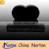 Hand-carved polished black granite tombstone on sale NTGT-001L