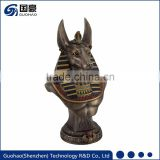 Custom art sculpture Egyptian anubis god bust statue