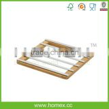 Bamboo And Chrome Trivet/Doily/HOMEX-FSC,BSCI
