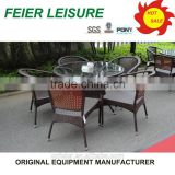 Outdoor furniture square rattan dining table wicker outdoor furniture