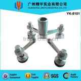 Stainless Steel Glass Curtain Wall Spider Fitting Stainless Steel Routel YK-8101