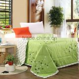 Green summer flowers cartoon 100% cotton summer or autumn air conditioning blanket quilt bedding comforter home tetile.