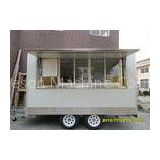 Custom Window Ice Cream Cart With Food Concession Trailers Air Conditioning