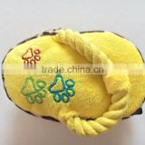 V-Shape Squeaky Plush Slippers Dog Toy