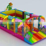 dinosaur park theme inflatable obstacle