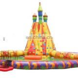 PVC inflatable lighthouse climbing wall backyard rock climbing with pool