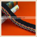 High quality black cotton fringe trim for dress T-shirt skirts curtains decoration on sale