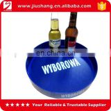 Custom round clear plastic bar tray with printed logo