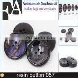 fashion design resin flatback buttons black color 4 holes