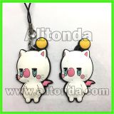 Custom pvc soft cartoon animal figure pendant for bag mobile phone