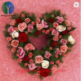 artificial christmas flower wreath decoration