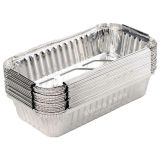 Aluminum Pans Disposable for Toaster Oven [100 Pack], Aluminum Tins Baking, Foil Pans for Broiling, Roasting, Grilling, Cakes, Pies (900 ML)
