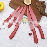 Non stick 5 pcs kitchen knife set