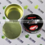 Empty tinplate car wax case polish wax tin box round shape metal can