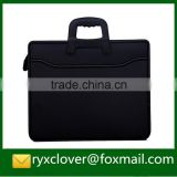 Business black document Bag/Sewing Handle Briefcase