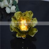 wholesale new colorful flower glass candelabra