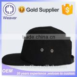 Wholesale Blank Black Plain Metal Buckle 5 Panel Hats Custom Snapback Trucker Cap