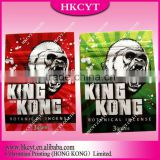 king kong 2 flavors herbal incense ziplock bag