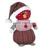 "11"" Country Snowman with Fine Plush Fabric/Plush Snowman with Christmas Hat /Cuddly Stuffed Toy 11"" Tall Snowman"