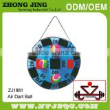 Ironsystem promotional and fashional hook and loop target darts roll up fabric dartboard