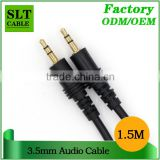 SLT 24k Gold Plated Connectors Male to Male 3.5mm AUX Audio Cable