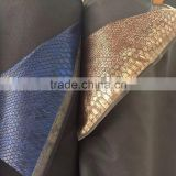 synthetic leather stocklot new design crocodile pattern,pu leather with 0.8-1.0 mm thickness widely use for bag and shoes