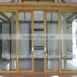 6063 t5/t6 customized aluminum sliding window with mosquito screen from shanghai(ISO9001:2008)