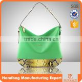 5129 2016 Trendy fashionable Hobo bag latest woman snake print handbag bolso de dama