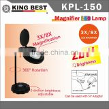 KING BEST 3x and 8X USB DC 5V table lamps SuperBright Jewelry Design ECO Eye Protection Efficient Magnifier LED Light