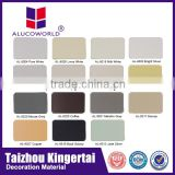Alucoworld hot sale China supplier best quality size 4mm 5mm 6mm silver nano acp aluminium composite panel