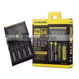 Multifunctionnal Nitecore D4 LCD Intelligent Circuitry Global Insurance 18650 Charger battery