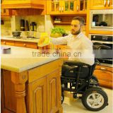 Steel foldable power motorized wheelchair used