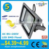 Samsung LG 5 years warranty cheap price ip66 outdoor 12 volt smd led ground mounted flood light