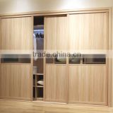 OPPEIN Sliding Door Wardrobe with Glass
